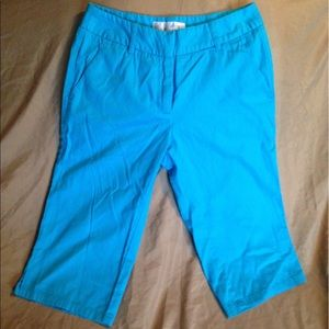 Teal/turquoise Capris
